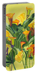 Yellow Lilies Portable Battery Charger