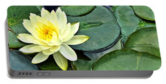 Yellow Lotus - Botanical Art By Sharon Cummings Portable Battery Charger by Sharon Cummings