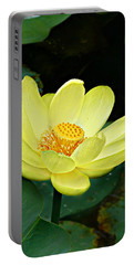 Yellow Lotus Portable Battery Charger