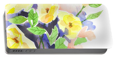 Portable Battery Charger featuring the painting Yellow Magnolias by Kip DeVore