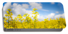 Yellow Mustard Field Portable Battery Charger