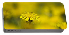 Yellow On Yellow Dandelion Portable Battery Charger