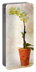 Portable Battery Charger featuring the photograph Yellow Orchid by Patti Deters
