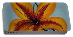Yellow Oriental Lily Portable Battery Charger