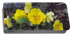 Yellow Pansies Portable Battery Charger