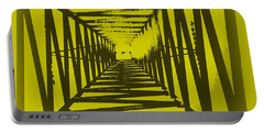 Portable Battery Charger featuring the photograph Yellow Perspective by Clare Bevan