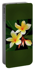 Yellow Plumeria Portable Battery Charger