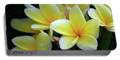 Yellow Plumeria Cascade Portable Battery Charger