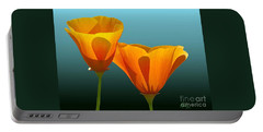 Yellow Poppies Portable Battery Charger
