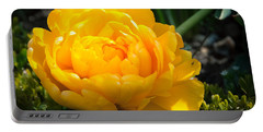 Portable Battery Charger featuring the photograph Yellow Rose by Dee Dee  Whittle