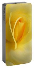Yellow Rose Portrait Portable Battery Charger