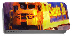 Yellow Sante Fe Locomotive Portable Battery Charger