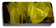 Portable Battery Charger featuring the photograph Yellow Silk by Lucinda Walter