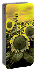 Yellow Sky Yellow Flowers. Portable Battery Charger