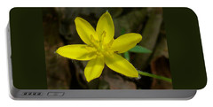 Yellow Star Portable Battery Charger by William Tanneberger