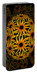 Yellow Sunflower Seed Portable Battery Charger by Barbara St Jean