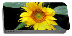 Yellow Sunflower Portable Battery Charger by Trina  Ansel