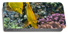 Portable Battery Charger featuring the photograph Yellow Tang Pair by Peggy Hughes