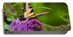 Yellow Tiger Swallow Tail Butterfly Portable Battery Charger
