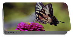 Yellow Tiger Swallowtail Butterfly Portable Battery Charger by Kay Novy