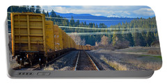 Yellow Train To The Mountains Portable Battery Charger