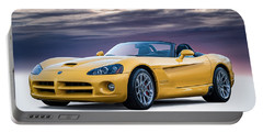 Yellow Viper Convertible Portable Battery Charger by Douglas Pittman