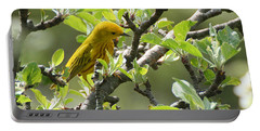 Yellow Warbler In Pear Tree Portable Battery Charger