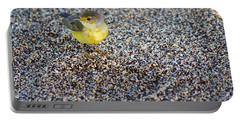 Yellow Warbler On The Beach Portable Battery Charger