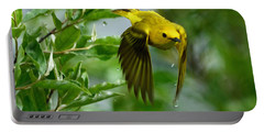 Yellow Warbler Takes Flight Portable Battery Charger