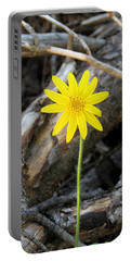 Portable Battery Charger featuring the photograph Yellow Wildflower by Laurel Powell
