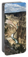 Portable Battery Charger featuring the photograph Yellowstone Canyon by Laurel Powell