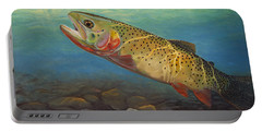 Yellowstone Cut Takes A Salmon Fly Portable Battery Charger