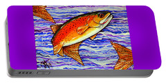 Yellowstone Cutthroat Portable Battery Charger by Jackie Carpenter