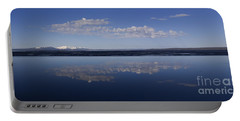 Portable Battery Charger featuring the photograph Yellowstone Lake Reflections by J L Woody Wooden