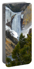 Portable Battery Charger featuring the photograph Yellowstone Lower Falls In Spring by Michele Myers
