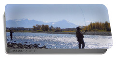 Yellowstone River Fly Fishing Portable Battery Charger