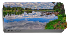 Portable Battery Charger featuring the photograph Yellowstone River Reflections by Greg Norrell