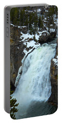 Portable Battery Charger featuring the photograph Yellowstone Upper Falls In Spring by Michele Myers