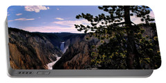 Portable Battery Charger featuring the photograph Yellowstone Waterfall by Matt Harang