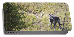 Yellowstone Wolf Portable Battery Charger by Belinda Greb