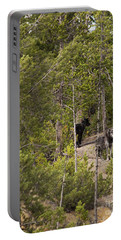 Yellowstone Wolves Portable Battery Charger by Belinda Greb