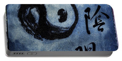 Portable Battery Charger featuring the photograph Yin  Yang Brush Calligraphy by Peter v Quenter