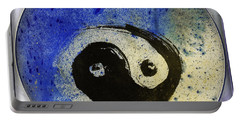 Yin Yang Painting Portable Battery Charger by Peter v Quenter