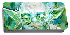 Yoda Watercolor Portrait Portable Battery Charger