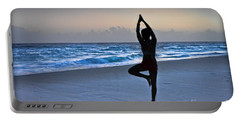 Portable Battery Charger featuring the photograph Yoga Posing  by Gary Keesler