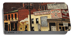 Portable Battery Charger featuring the painting Yonge And Richmond Streets 1899 by Kenneth M  Kirsch