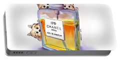 Yorkie Chanel Crazies Portable Battery Charger