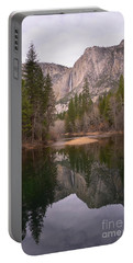 Yosemite Falls Reflection Portable Battery Charger by Debby Pueschel