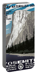 Yosemite National Park Vintage Poster 2 Portable Battery Charger