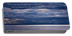 Portable Battery Charger featuring the photograph You Are The Author by Jordan Blackstone